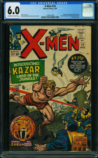 X-Men #10 (Marvel, 1965) CGC FN 6.0 OFF-WHITE TO WHITE pages