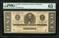 Confederate Notes:1864 Issues, T71 $1 1864 PF-9 Cr. 573.. ...