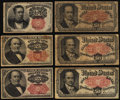 Fractional Currency:Fifth Issue, Fifth Issue Fractional Very Good or Better.. ... (Total: 6 notes)