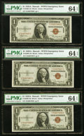 Small Size:World War II Emergency Notes, Fr. 2300 $1 1935A Hawaii Silver Certificates. Seven Consecutive Examples. PMG Choice Uncirculated 64 EPQ.. ... (Total: 7 notes)