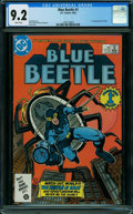 Blue Beetle #1 (DC, 1986) CGC NM- 9.2 WHITE pages