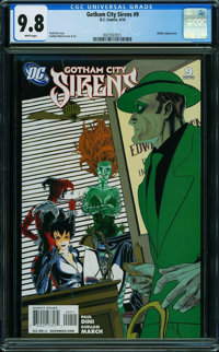 Gotham City Sirens #9 (DC, 2010) CGC NM/MT 9.8 WHITE pages
