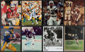 Football Collectibles:Photos, Football Greats Signed Photograph Collection (8) - Includes Gabriel, Maynard, Winslow, & More. . ...