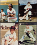 Baseball Collectibles:Photos, Cleveland Indians Greats Signed Photograph Quartet (4) - IncludesKiner, Colavito, Carter, & Lemon. . ...