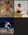 Baseball Collectibles:Photos, Detroit Tigers Greats Signed Photograph Trio (3) - Kaline &Lolich. . ...