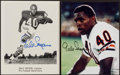 Football Collectibles:Photos, Gale Sayers Signed Photograph Pair (2). . ...