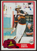 Baseball Cards:Singles (1970-Now), Signed 1981 Topps Ozzie Smith #254. . ...