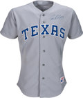 Baseball Collectibles:Uniforms, 1991 Ivan Rodriguez Game Worn Texas Rangers Rookie Jersey. . ...