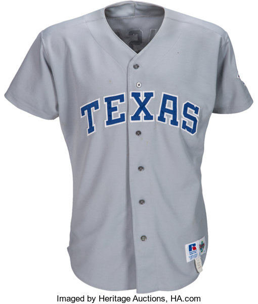 the latest d2267 fcc70 1993 Jose Canseco Game Worn Texas Rangers Jersey with Photo ...