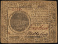 Colonial Notes:Continental Congress Issues, Continental Currency November 29, 1775 $7 Fine-Very Fine.. ...