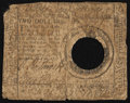 Colonial Notes:Continental Congress Issues, Continental Currency May 20, 1777 $2 Hole Cancel Good-Very Good.....