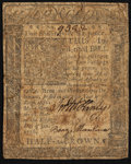 Colonial Notes:Delaware, Delaware January 1, 1776 2s 6d Very Good-Fine.. ...