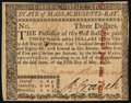 Colonial Notes:Massachusetts, Massachusetts May 5, 1780 $3 Slash Cancel Choice New.. ...