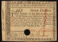 Colonial Notes:Massachusetts, Massachusetts May 5, 1780 $7 Hole Cancel Very Fine-Extremely Fine.....