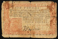 Colonial Notes:Pennsylvania, Pennsylvania April 10, 1777 £4 Red and Black Very Fine.. ...