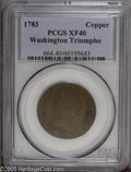 Colonials: , 1783 TOKEN Georgivs Triumpho Token XF40 PCGS. Baker-7. Medium brown in color with an attractive planchet for this issue. Th...