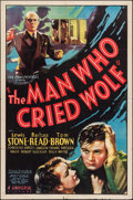 """Movie Posters:Crime, The Man Who Cried Wolf (Universal, 1937). One Sheet (27"""" X 41"""").Crime.. ..."""