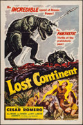 "Movie Posters:Science Fiction, Lost Continent (Lippert, 1951). One Sheet (27"" X 41""). ScienceFiction.. ..."