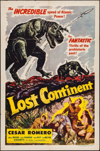 """Lost Continent (Lippert, 1951). One Sheet (27"""" X 41""""). Science Fiction"""