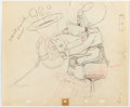 Animation Art:Production Drawing, Mickey's Amateurs Goofy Animation Drawing (Walt Disney,1937)....