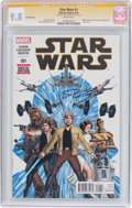 Modern Age (1980-Present):Science Fiction, Star Wars #1 6th Printing Signature Series (Marvel, 2015) CGC NM/MT9.8 White pages....