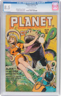 Golden Age (1938-1955):Science Fiction, Planet Comics #42 (Fiction House, 1946) CGC VF+ 8.5 Off-white towhite pages....