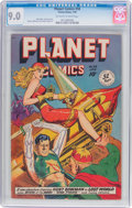 Golden Age (1938-1955):Science Fiction, Planet Comics #58 (Fiction House, 1949) CGC VF/NM 9.0 Off-white towhite pages....