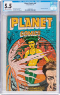 Golden Age (1938-1955):Science Fiction, Planet Comics #49 (Fiction House, 1947) CGC FN- 5.5 Cream tooff-white pages....