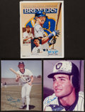 Baseball Collectibles:Photos, Milwaukee Brewers Greats Signed Photograph & Program Trio (3) -Includes Yount & Molitor. . ...
