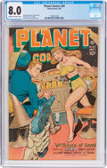 Golden Age (1938-1955):Science Fiction, Planet Comics #50 (Fiction House, 1947) CGC VF 8.0 Cream tooff-white pages....