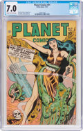 Golden Age (1938-1955):Science Fiction, Planet Comics #51 (Fiction House, 1947) CGC FN/VF 7.0 Cream tooff-white pages....