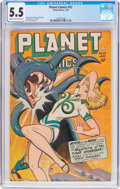 Golden Age (1938-1955):Science Fiction, Planet Comics #52 (Fiction House, 1948) CGC FN- 5.5 Cream tooff-white pages....