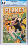 Golden Age (1938-1955):Science Fiction, Planet Comics #42 (Fiction House, 1946) CGC FN 6.0 Off-whitepages....