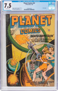 Golden Age (1938-1955):Science Fiction, Planet Comics #43 (Fiction House, 1946) CGC VF- 7.5 Off-whitepages....