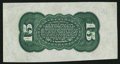 Fractional Currency:Third Issue, Fr. 1272SP 15¢ Third Issue Wide Margin Green Back Extremely Fine.. ...