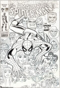 Original Comic Art:Covers, John Romita Sr. and Frank Giacoia Amazing Sp...