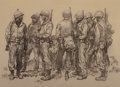 Other, Harold von Schmidt (American, 1893-1982). Replacements, The Saturday Evening Post interior illustration, 1945. Charcoal ...