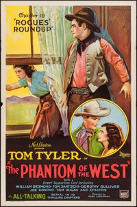 """The Phantom of the West (Mascot, 1931). One Sheet (27"""" X 41"""") Chapter --10 """"Rogues Roundup."""" Serial..."""