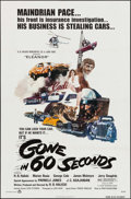 "Movie Posters:Action, Gone in 60 Seconds (New City Releasing, 1974). One Sheet (27"" X41""). Action.. ..."