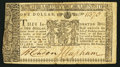Colonial Notes:Maryland, Maryland March 1, 1770 $1 Very Fine.. ...