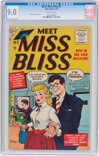 Meet Miss Bliss #1 (Atlas, 1955) CGC VF/NM 9.0 Off-white pages