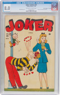"""Golden Age (1938-1955):Humor, Joker Comics #25 Davis Crippen (""""D"""" Copy) Pedigree (Timely, 1946) CGC VF 8.0 Off-white to white pages...."""