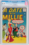 Silver Age (1956-1969):Humor, A Date With Millie #5 (Atlas, 1957) CGC VF 8.0 Off-white to white pages....