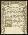 Colonial Notes:Connecticut, Connecticut June 1, 1780 10s Cross-Cut Cancel Choice About New.....