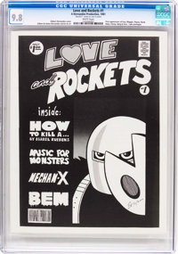 Love and Rockets #1 First Printing (Hernandez Production, 1981) CGC NM/MT 9.8 White pages