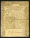 Colonial Notes:Connecticut, Connecticut May 10, 1775 2s 6d Slash Cancel About New.. ...