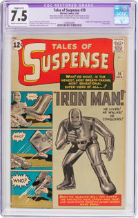Tales of Suspense #39 (Marvel, 1963) CGC Apparent VF- 7.5 Slight (C-1) Cream to off-white pages