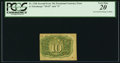 Fractional Currency:Second Issue, Fr. 1246 10¢ Second Issue PCGS Very Fine 20.. ...