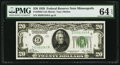 Fr. 2050-I $20 1928 Federal Reserve Note. PMG Choice Uncirculated 64 EPQ