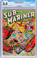 Golden Age (1938-1955):Superhero, Sub-Mariner Comics #10 (Timely, 1943) CGC VF 8.0 Off-white to white pages....